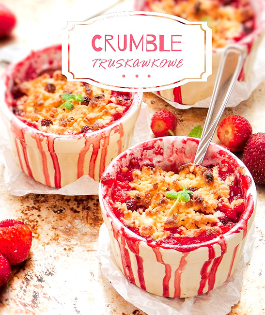 Crumble truskawkowe
