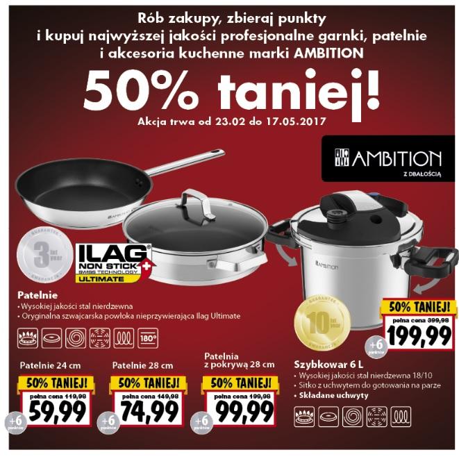 Kupuj w sieci Kaufland produkty Ambition za pół ceny!