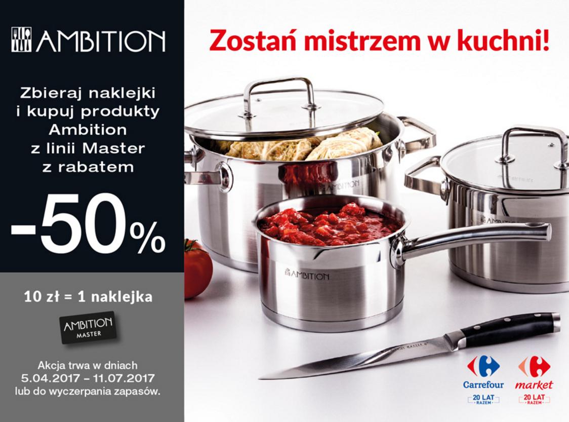 Zostań mistrzem w kuchni Program lojalnościowy w sieci Carrefour